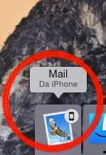 Handoff mostra che stavamo creando una mail su iPhone