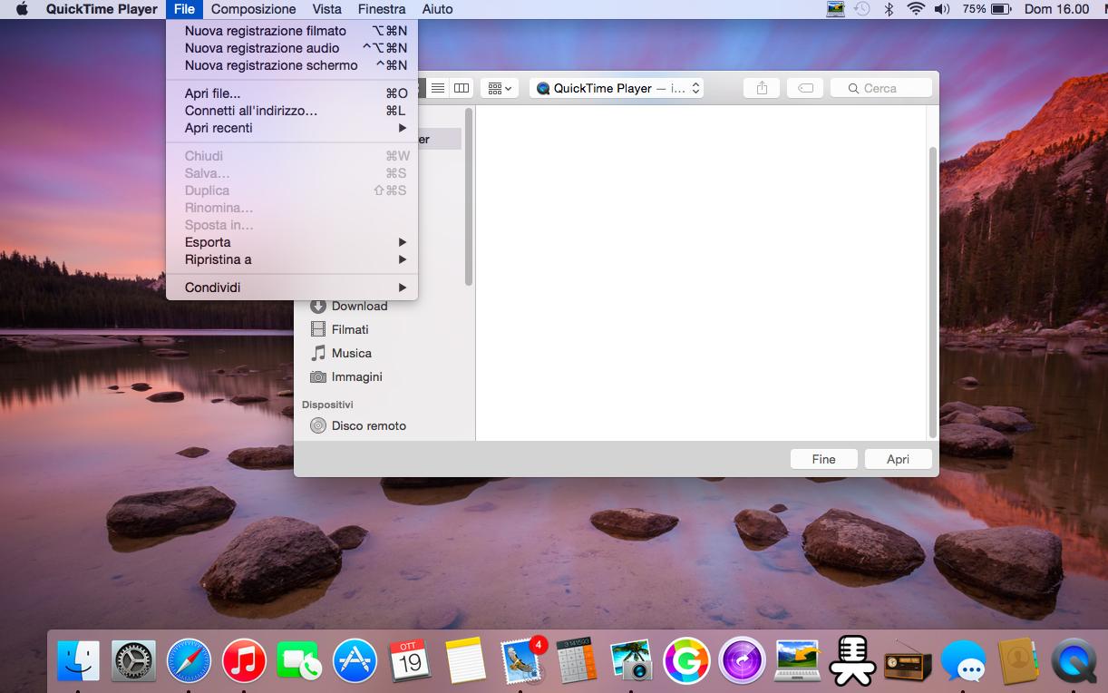 Foto allo schermo mac