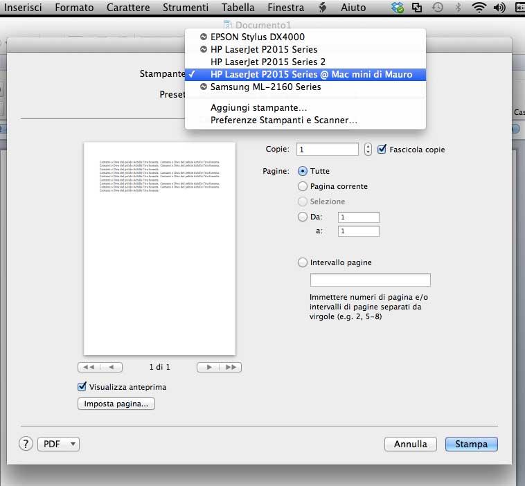 Stampare a distanza su una qualsiasi stampante, ecco come fare con OS X