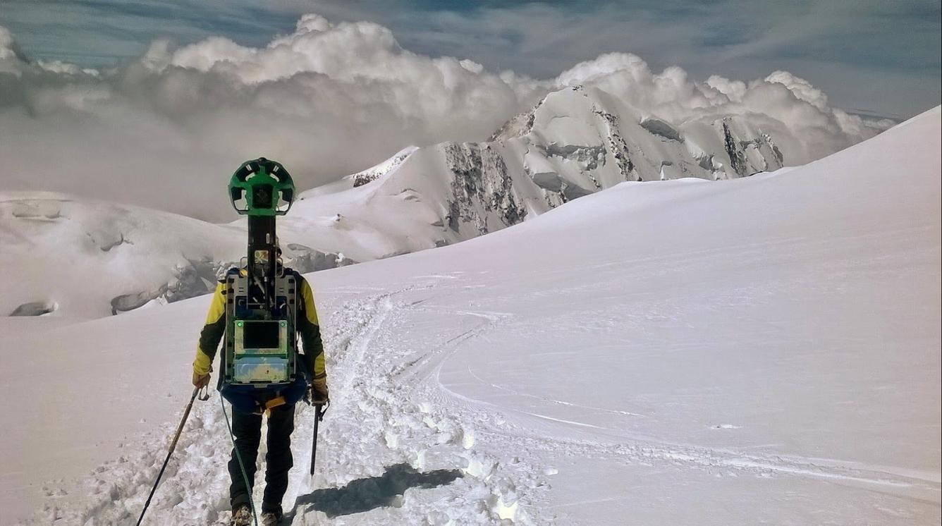 Sul rifugio più alto d'Europa, con Street View 2