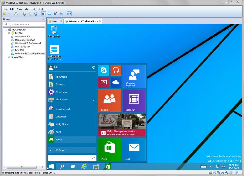 Windows virtualizzato