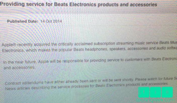Apple assistenza Beats