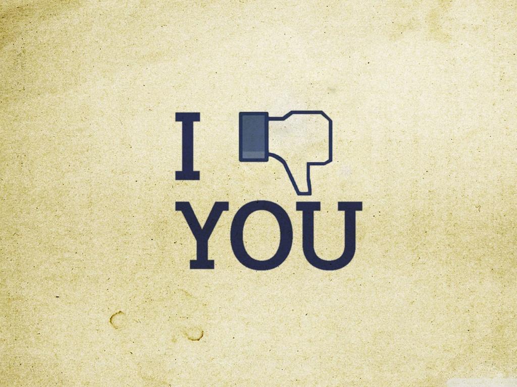 bottone non mi piace facebook