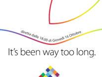 Evento Apple 16 ottobre: la diretta e gli approfondimenti di Macitynet