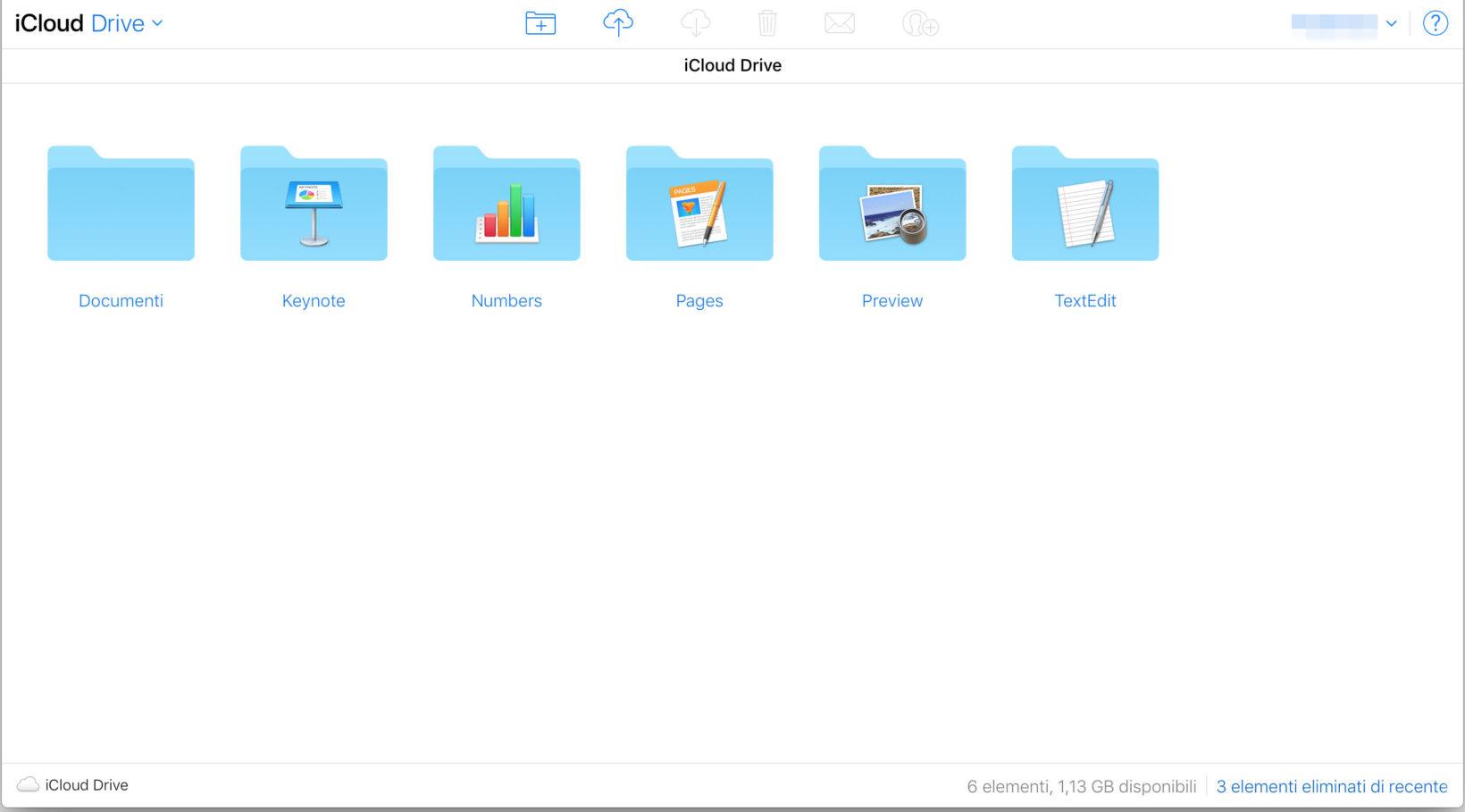 iCloud drive su iCloud.com