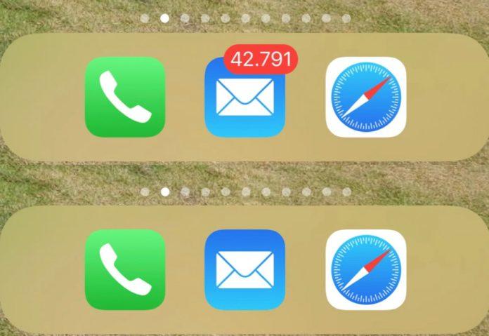 Come nascondere il contatore Mail non lette su iPhone e iPad