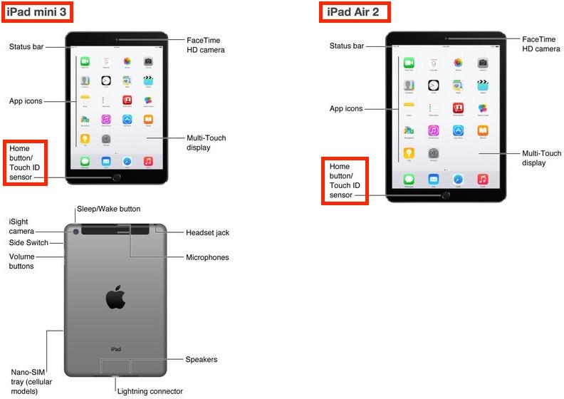 Apple pubblica distrattamente una schermata che mostra i prossimi iPad Air 2 e iPad mini 3, confermando alcune delle vociferate caratteristiche