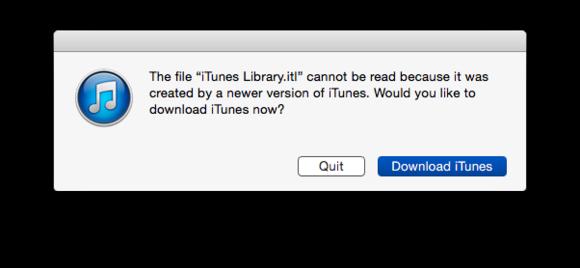 downgrade iTunes 12