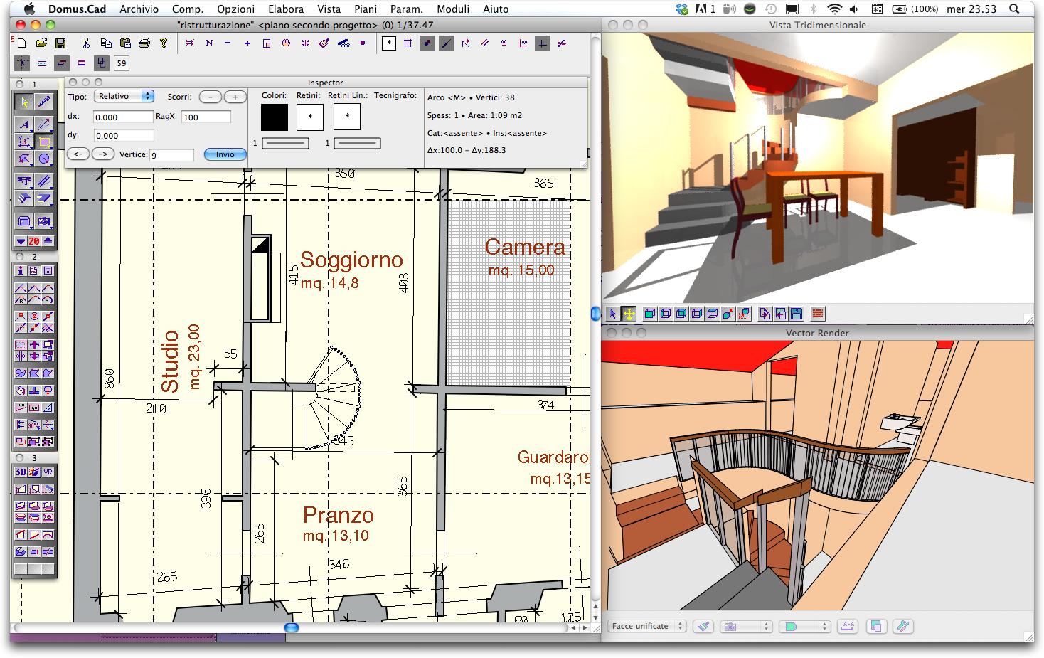 Il cad domus cad pro 2 edubase gratuito per studenti for Programma architettura gratis