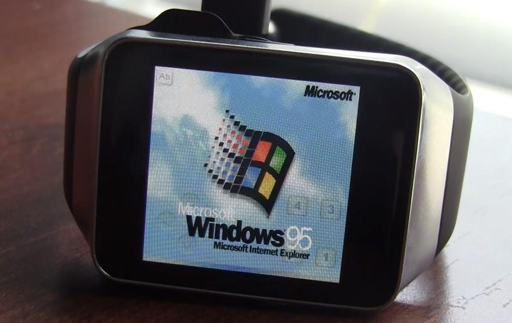 smartwatch Windows 95 su Galaxy Gear 1000