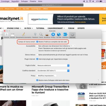 Come visualizzare il link completo sulla barra indirizzi di Safari per Mac