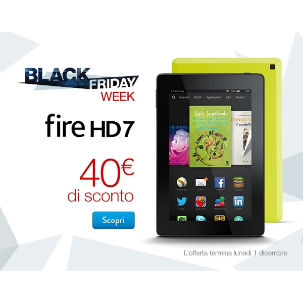 Amazon Fire HD 7 sconto 40 euro icon 600