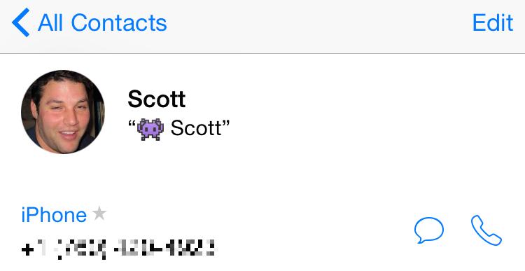 contatti su iPhone