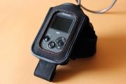 il telecomando inserito nella fascia da braccio