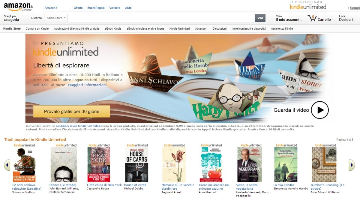 Kindle Unlimited in italia 1200