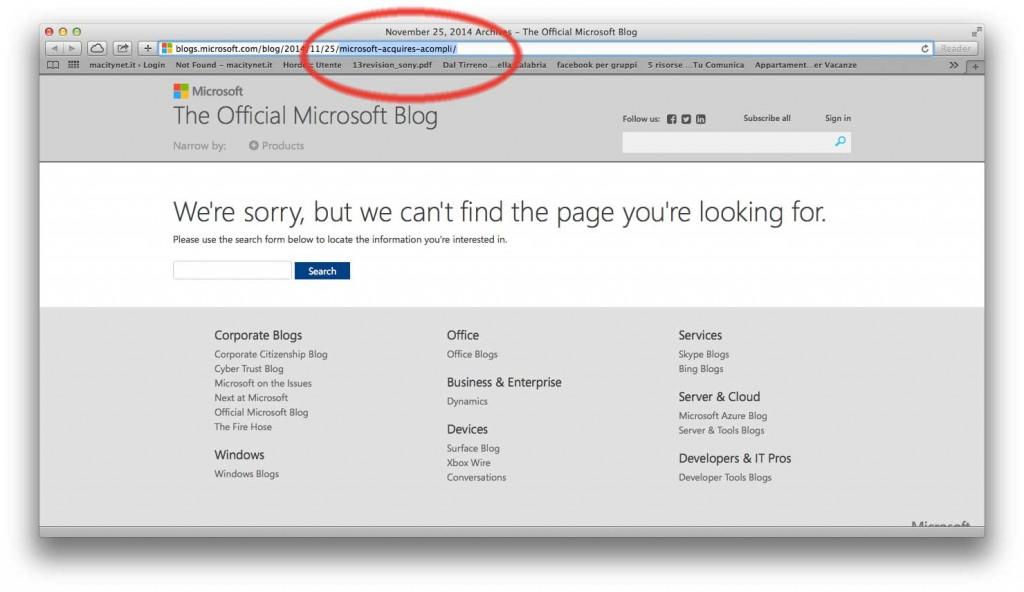 Acompli acquistata da Microsoft