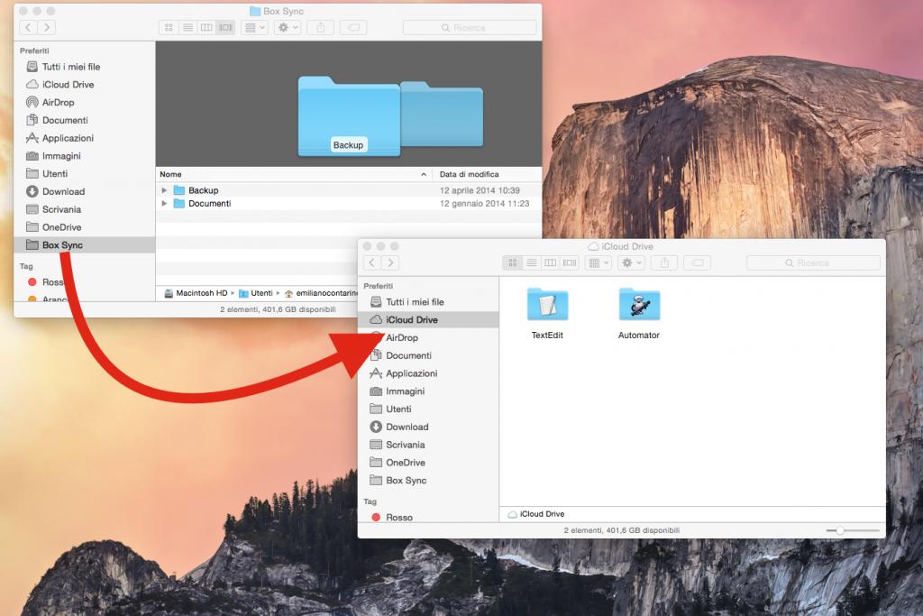 spostare i file da Dropbox