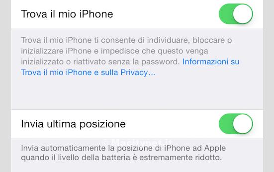 DOVE TROVO TROVA IL MIO IPHONE SU IPHONE 5C