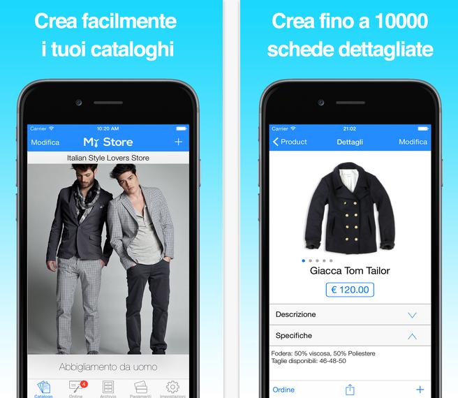 aggiornamento my store app
