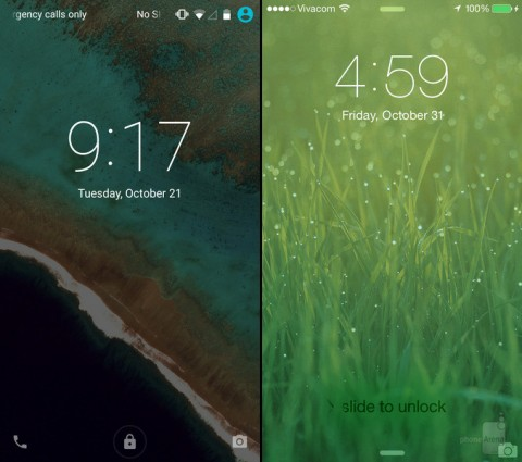 Lollipop Vs iOS 8