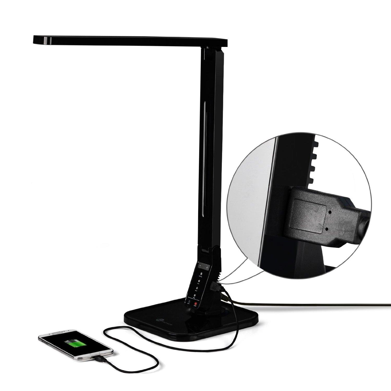 Lampada led da scrivania con porta usb controlli touch for Lampada led da scrivania