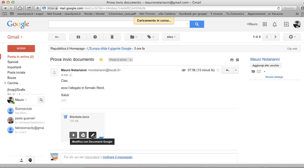 allegati gmail