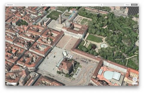 Flyover Torino piazza castello