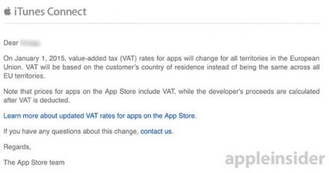 IVA su App store email apple