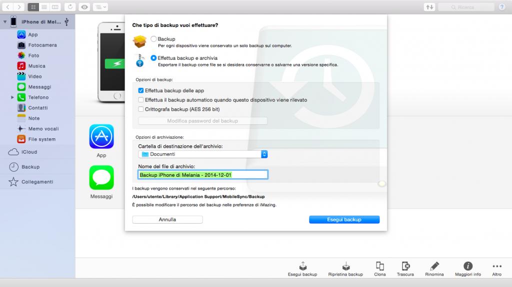 iMazing File Transfer