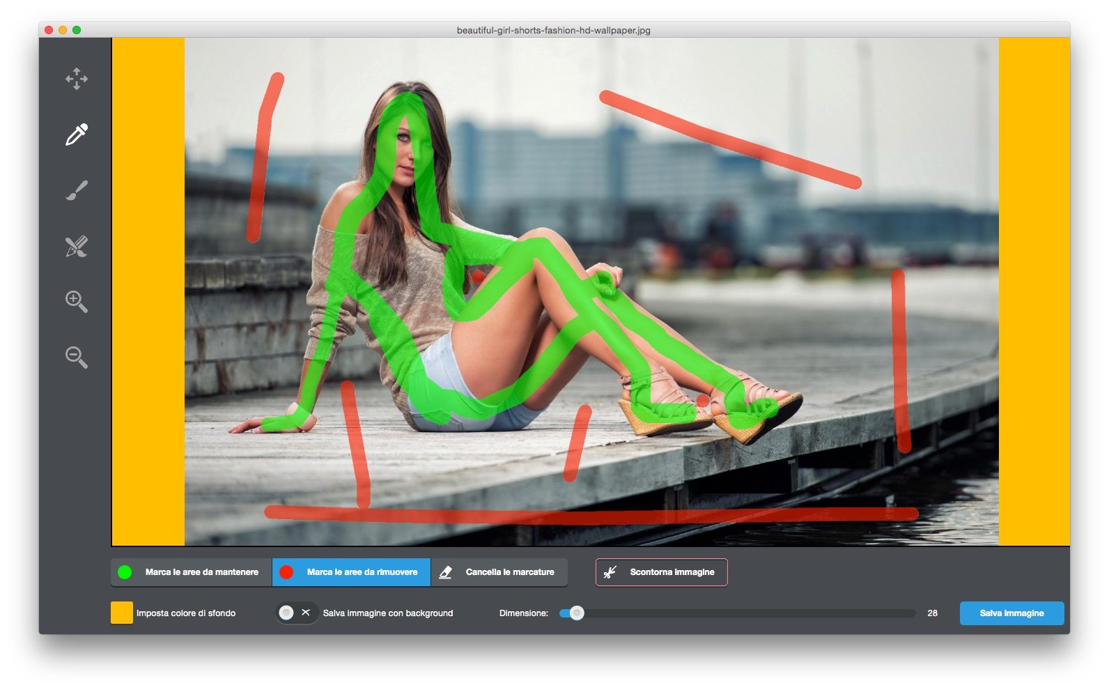 Background Eraser: con pochi clic cancella lo sfondo dalle foto su Mac