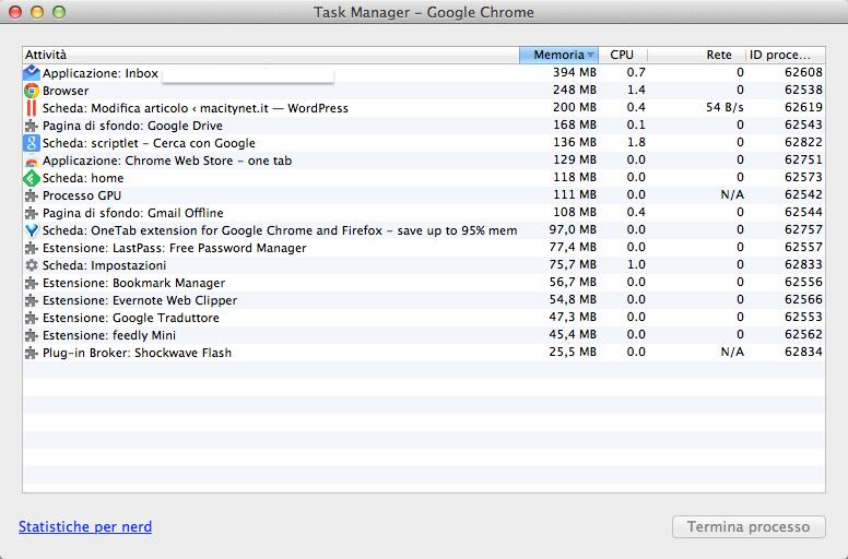 Task Manager - Google Chrome