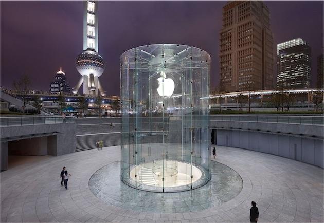 Apple Store in cina, Pudong, un distretto di Shanghai