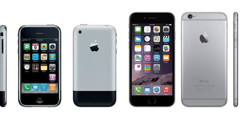 10 generazioni di iPhone in una sola immagine in morphing