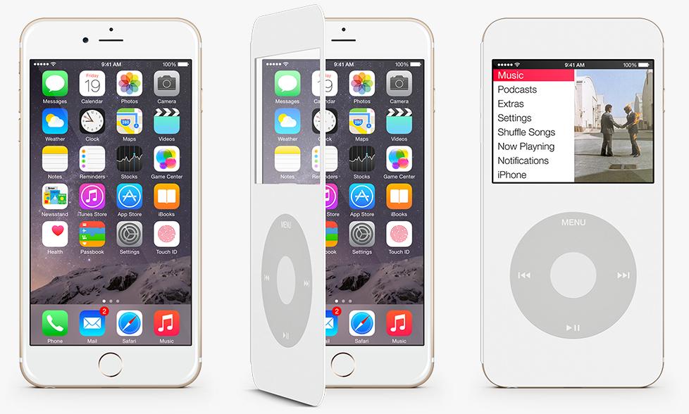 iPod Cover trasforma iPhone 6 in iPod Classic, rotella cliccabile inclusa
