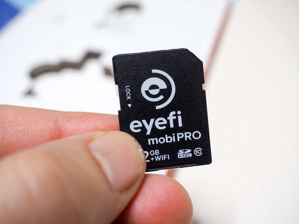 La EyeFi MobiPRO è da 32 FB e di colore nero
