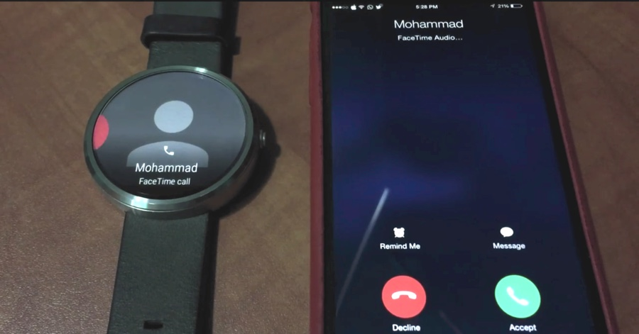 android wear e iphone hack telefonate