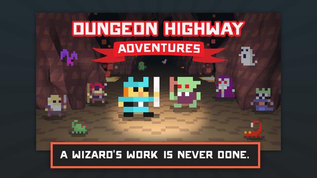 Dungeon Highway Adventures, il runner buio e cavernoso in stile pixel gratis su iOS