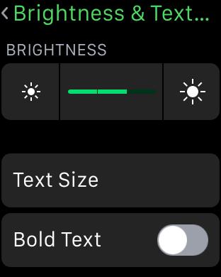 regolare luminosità Apple watch