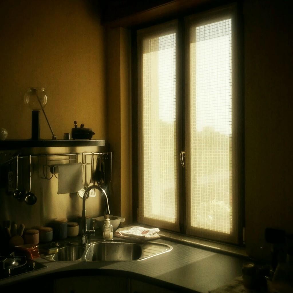 La luce del mattino, quando il sole sta sorgendo, rende interessanti alcune situazioni banali