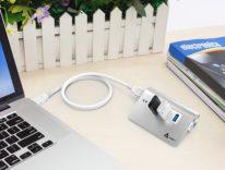 Recensione Mini Hub SuperSpeed Aukey a 4 porte USB, design in stile Apple