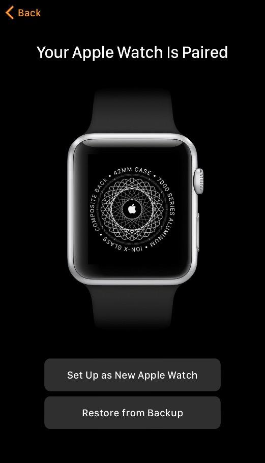 ripristino Apple Watch