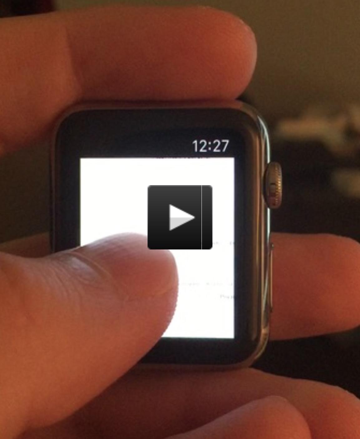 Browser su Apple Watch