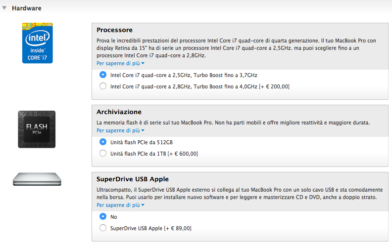 opzioni macbook retina top