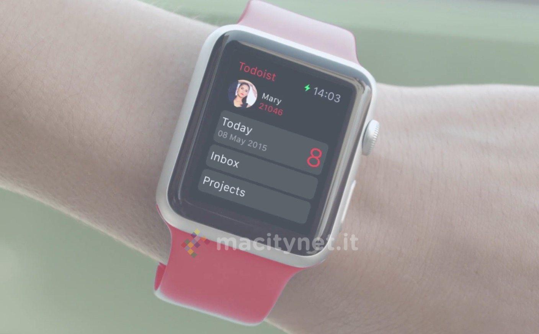 Todoist, il potente task manager arriva al polso con Apple Watch