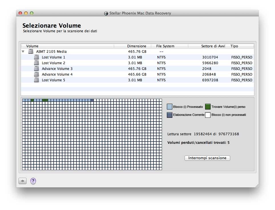 Scansione disco grezzo (RAW) alla ricerca di dati