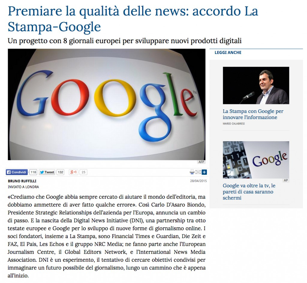 google la stampa