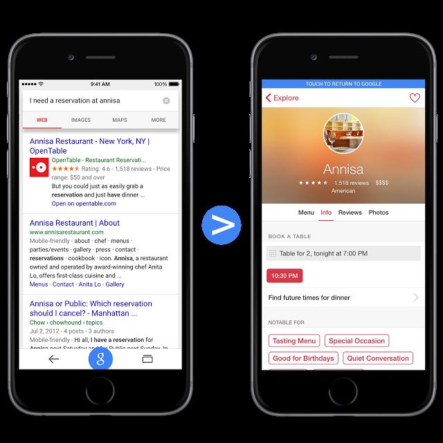 indicizzazione app nei risultati di ricerca iOS