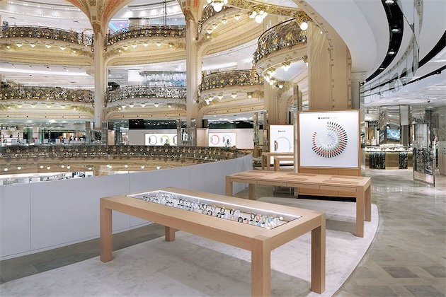L'Apple Watch in mostra alle Galeries Lafayette