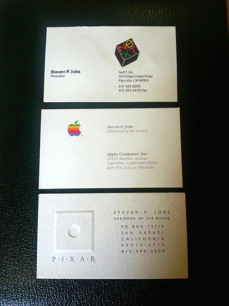 Allasta Per Beneficenza I Biglietti Da Visita Di Steve Jobs
