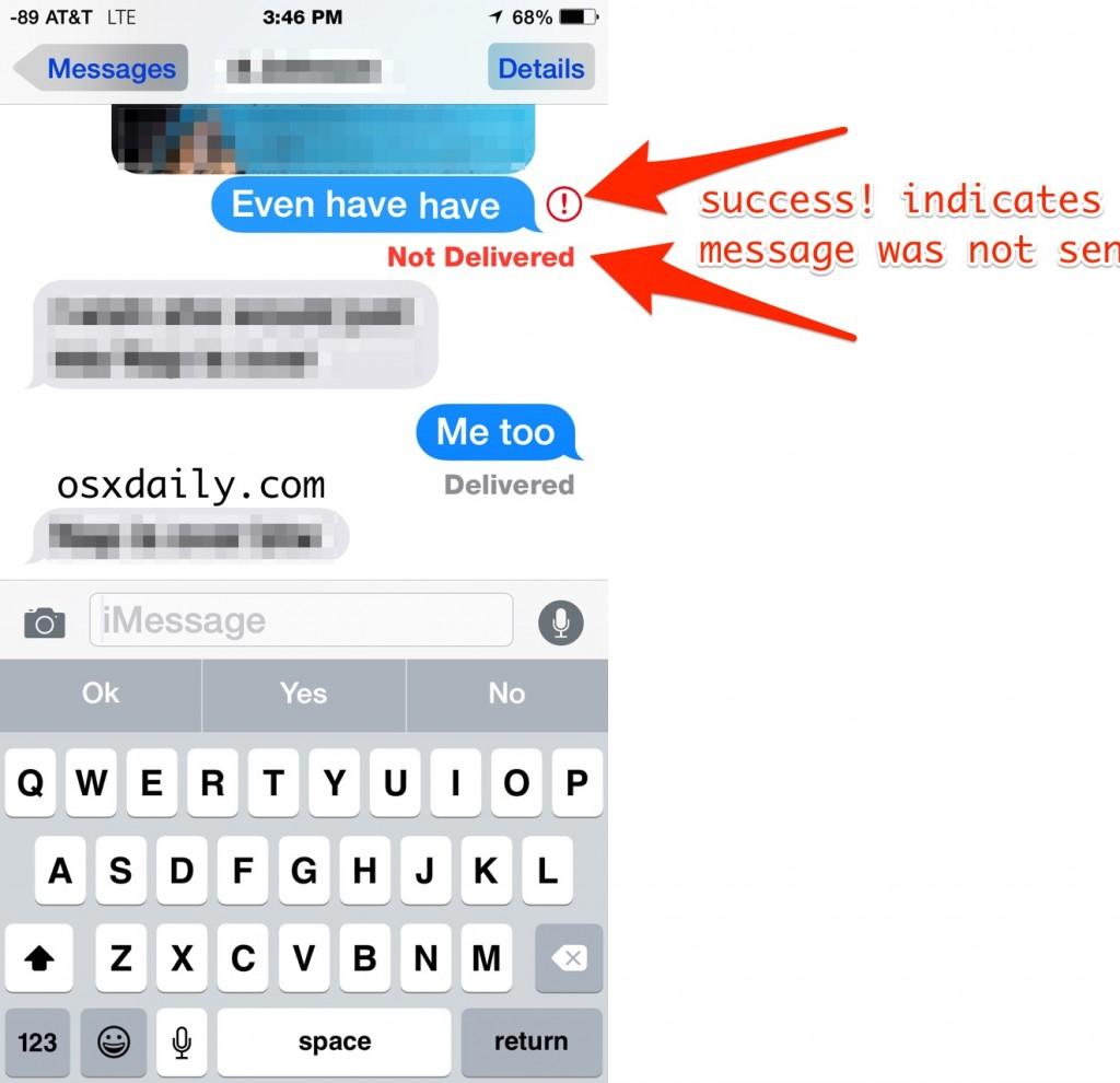 annullare l'invio di un messaggio da iPhone
